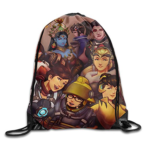 Price comparison product image Overwatch Halloween Drawstring Backpack Shoulder Bag