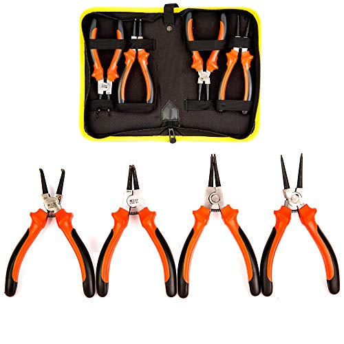 4 Pack Set 7 Inches Snap Ring Pliers Set Heavy