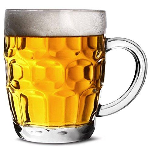 bar@drinkstuff The Great British Half Pint Dimple Mug 10oz/285ml - Case of 48 - Traditional Beer Tankards