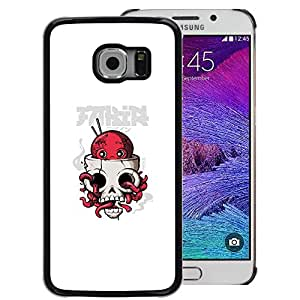 For Samsung Galaxy S6 EDGE (NOT S6) Case , Octopus Skull - Diseño Patrón Teléfono Caso Cubierta Case Bumper Duro Protección Case Cover Funda