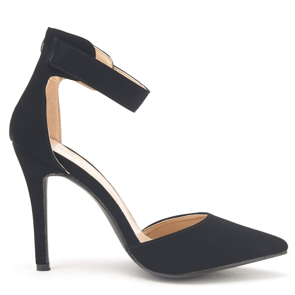 a9c374b06af32 Galleon - DREAM PAIRS OPPOINTED-ANKLE Women's Pointed Toe Ankle Strap  D'Orsay High Heel Stiletto Pumps Shoes BLACK NUBUCK Size 9.5