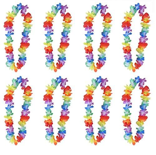 24 x HAWAIIAN LEIS HULA ALOHA HAWAII HEN STAG FLOWER GARLAND PARTY REDSTAR FANCY DRESS