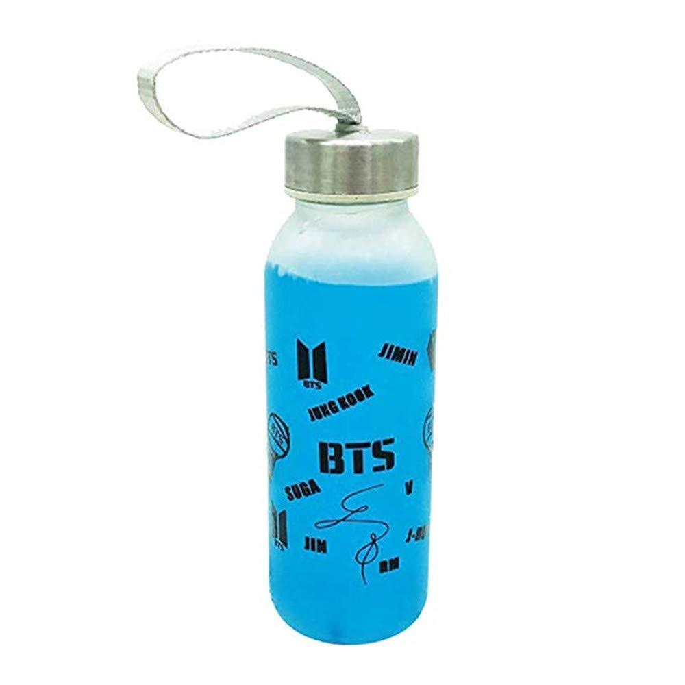 BTS Bangtan - Botella de Agua de Cristal para niños Jimin Jung Kook Twice Wanna One GOT7 JHion