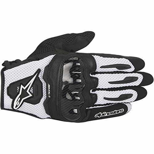Black//White X-Large 5559130888 Alpinestars SMX-1 Air Mens Motorcycle Gloves