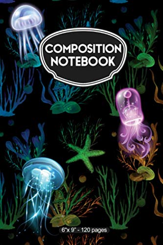 (Composition Notebook: Abstract Jellyfish Pattern - 120 Pages )