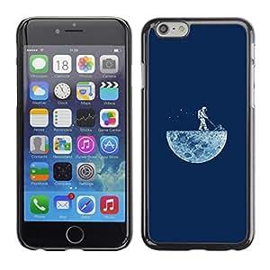 Apple (4.7 inches!!!) iPhone 6 , Radio-Star - Cáscara Funda Case Caso De Plástico (Funny - Lawning The Moon)