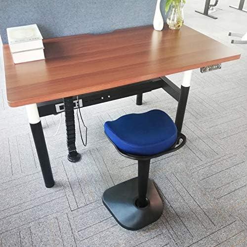 AIMEZO Sedia da scrivania con Sgabello Regolabile in Altezza Sgabello da Seduta Attivo con braccioli Regolabili Blu