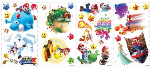 Roommates 871Scs Nintendo Mario Galaxy 2 Peel And Stick Wall Decals