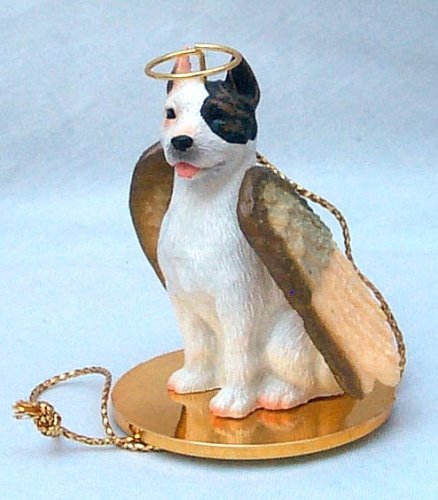 (Conversation Concepts Pit Bull Terrier White Pet Angel Ornament)