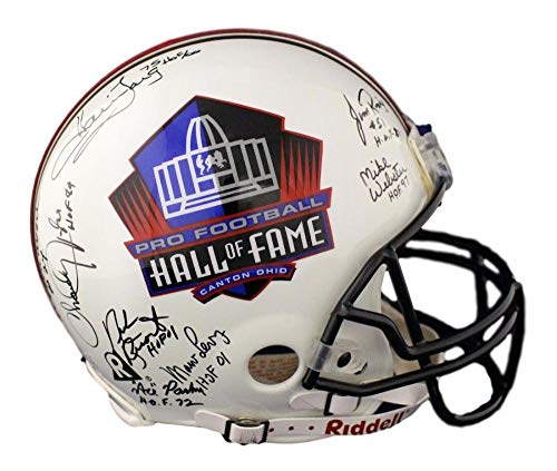 (Hall Of Fame NFL Autographed Signed Proline Helmet 17 Sigs Long Taylor Riggins Bas - Certified Authentic)