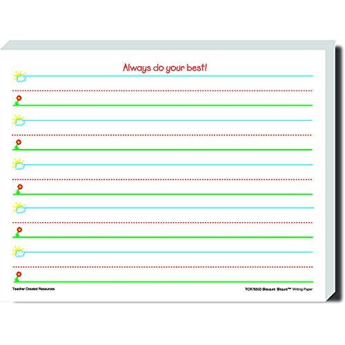 TEACHER CREATED RESOURCES SMART START K-1 WRITING PAPER 360 (Set of 6)