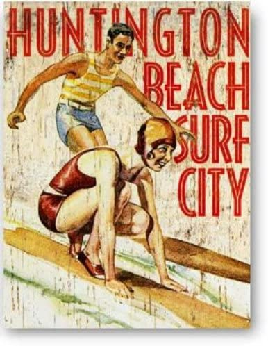 ブリキの看板 ハンティングトンビーチ/サインプレート看板 サインボード アルミニウムプレート アメリカ雑貨
