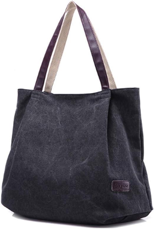 Bolsas de hombro de lona para mujer, varios colores, casuales, bolsos de mensajería