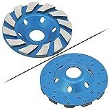 "Ocr TM 4"" Concrete Turbo Diamond Grinding Cup Wheel for Angle Grinder 12 Segs Heavy Duty (Blue 12segs B)"