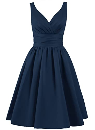 ELLAGOWNS Women's V-neck Short Bridesmaid Dresses
