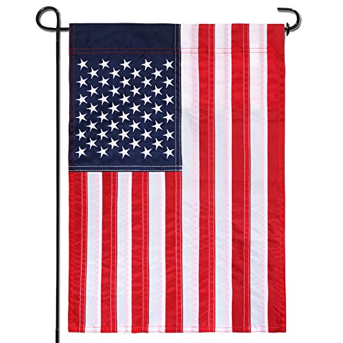 Anley Classic |Embroidered Stars| USA Garden Flag, American July 4th Decoration United States Garden Flags - Sewn Stripes & Double Stitched - 18 x 12.5 Inch