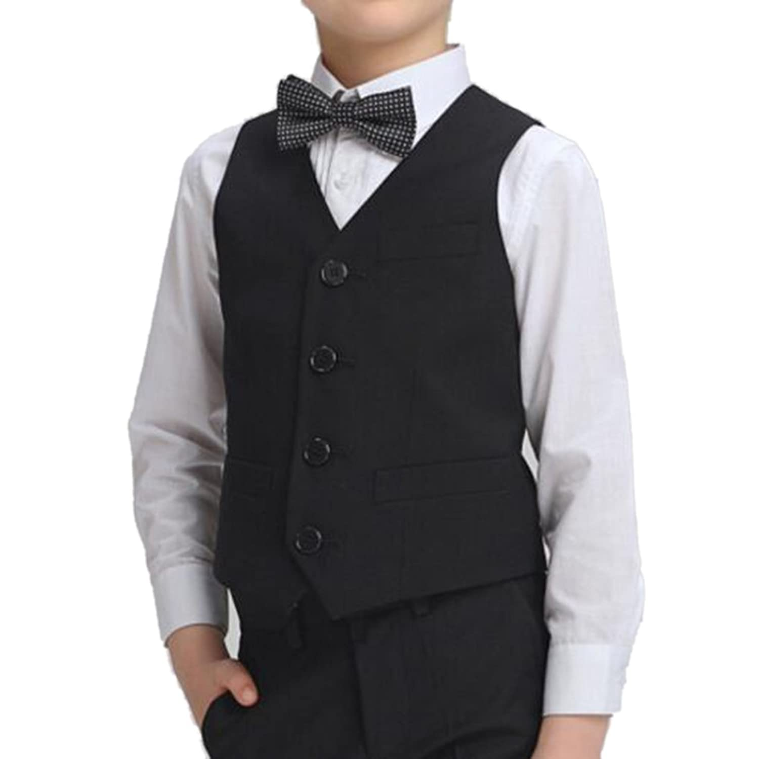 Amazon.com: TopTie Boy's 4 Button Formal Suit Tuxedo Vest: Clothing