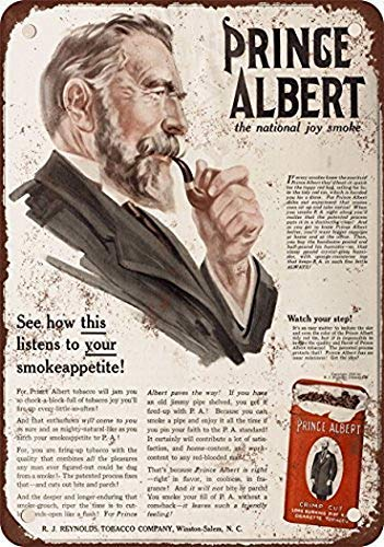(Joycenie Great Tin Sign Aluminum Metal Sign 1916 Prince Albert Crimp Cut Pipe and Cigarette Tobacco Vintage Look 8x12 Inch)