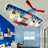 Children's room boy room ceiling lamp LED creative cartoon airplane eye girl bedroom lamp lighting lamp