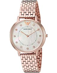 Emporio Armani Womens Kappa Quartz and Stainless-Steel-Plated Casual Watch, Color:Rose Gold-Toned (Model: AR11006)