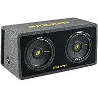 Kicker 10 Inch 1200 Watt Dual Loaded Car Audio Subwoofer Enclosure | 40DCWS102