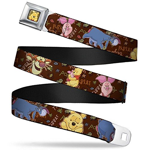 Buckle-Down Seatbelt Belt - Winnie the Pooh Character Poses - 1.0