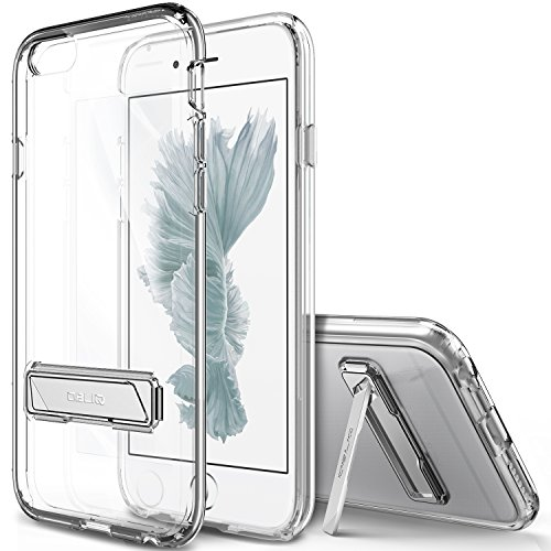 iPhone 6 Case, OBLIQ [Naked Shield][Clear][Metal Kickstand] Slim Fit Crystal Clear Scratch Resist Heavy Duty Protection Dual Layer Case for Apple iPhone 6S (2015) & iPhone 6 (2014)