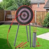Kids Garden Archery Set Safe Bow And Arrow Blow Pipe Darts Target Stand - A classic game of skill that's fun to play with family or friends.