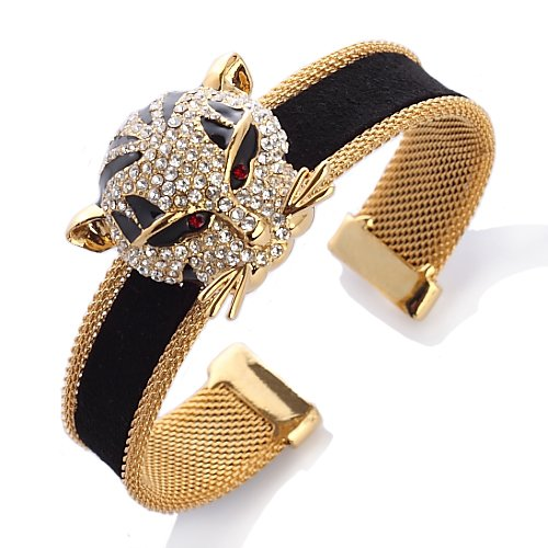 Janeo Panther Cuff Bracelet, Swarovski Crystal Elements - Gold, Janeo Jewels (Halloween Costumes With Next Day Delivery)