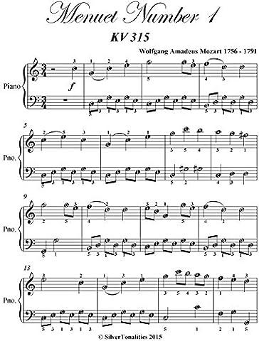 Menuet Number 1 Kv 315 Easiest Piano Sheet Music (Amazon Digital Sheet Music)