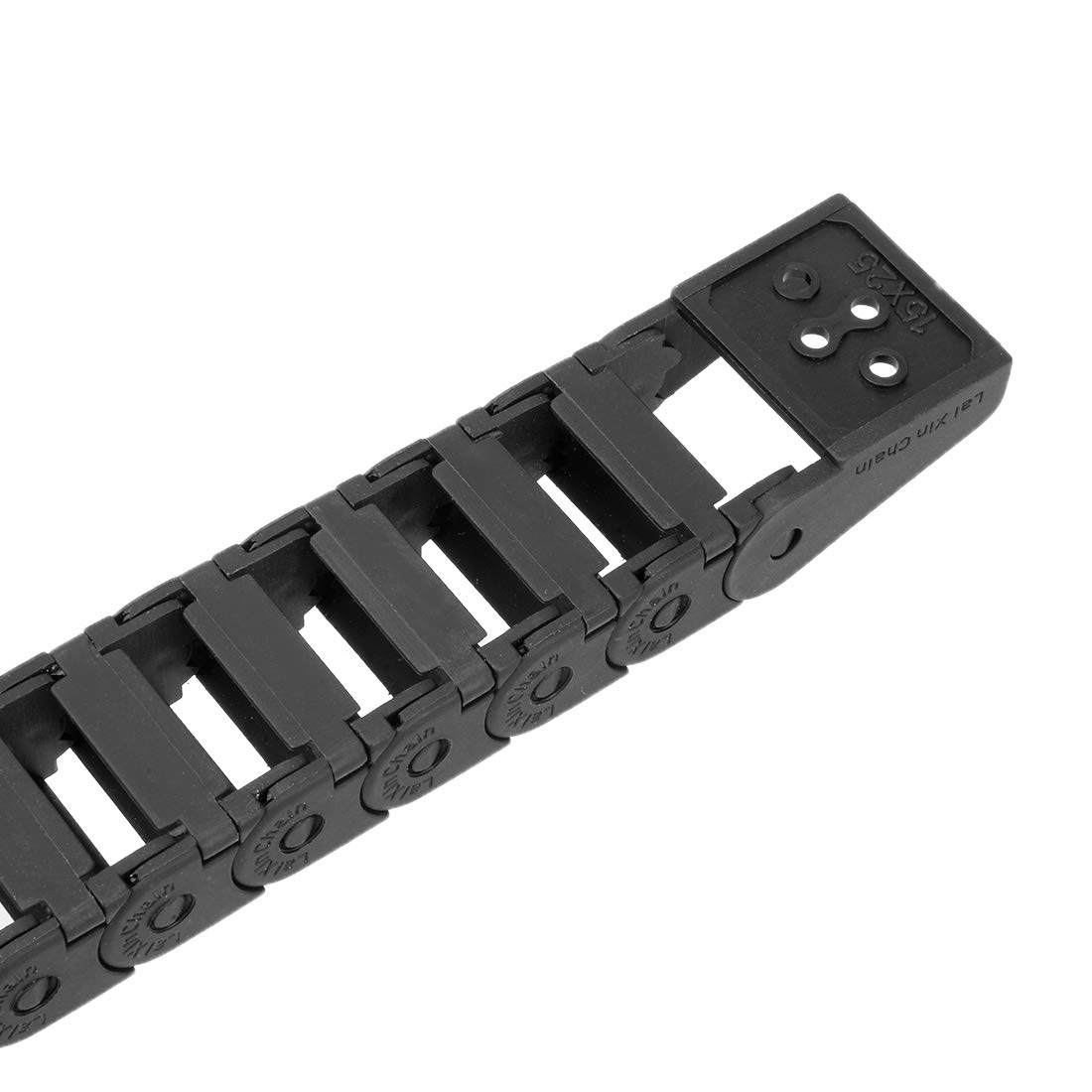 uxcell R28 15mm x 20mm Black Plastic Wire Carrier Cable Drag Chain 1M Length for CNC InnerHInnerW