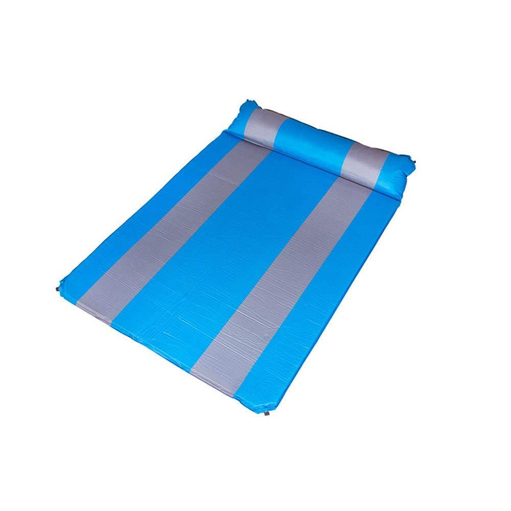 SYT Blankets Automatischer aufblasbarer Kissenforscher Wilde Mahlzeit, die im Freien Zelt einzelnes Doppeltes Luftbett kampiert, 200x140cm, Blau