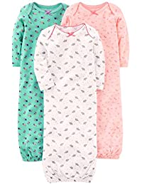 Simple Joys by Carter's baby-girls 3-pack Cotton Sleeper Gown Nightgown