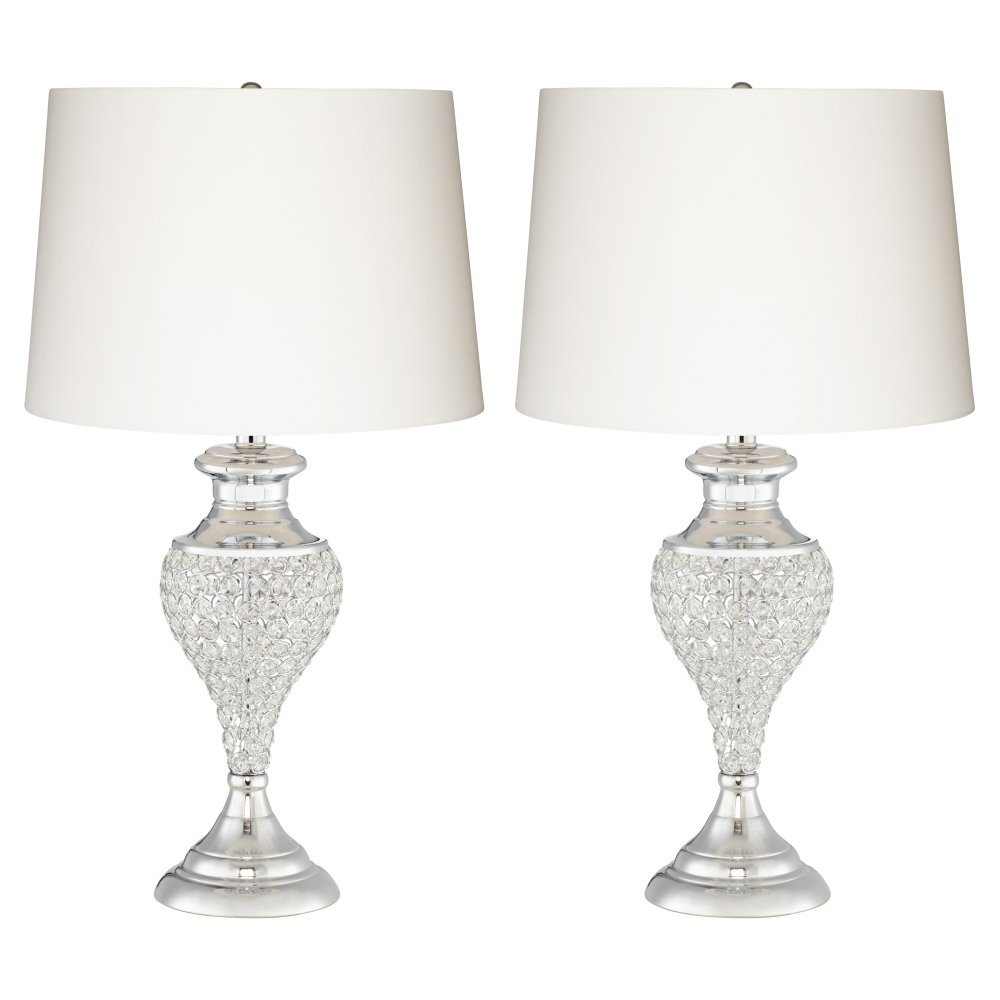 Pacific coast lighting glitz and glam table lamp in chrome set of pacific coast lighting glitz and glam table lamp in chrome set of 2 amazon geotapseo Images