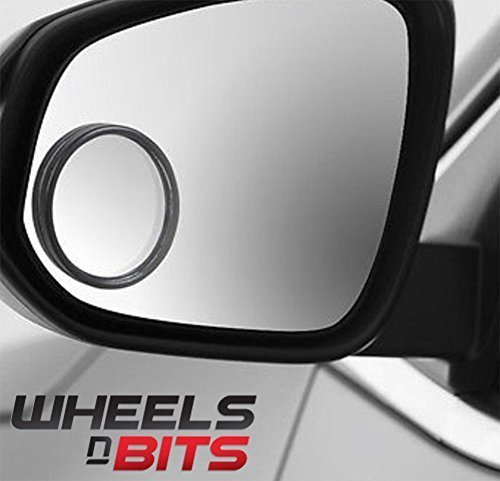 Wheels N Bits 2 x 5cm Self Adhesive Round Convex Blind Spot Reversing Mirrors Mirror Ideal for Car Van SUV People Carrier ETC