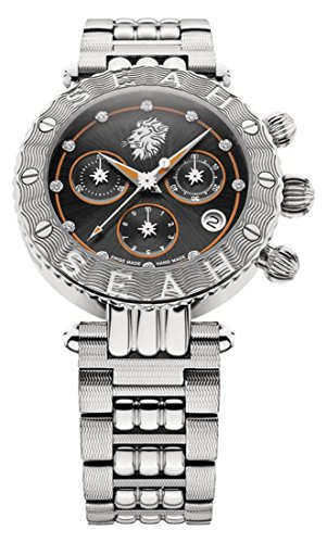 Seah-Galaxy-Zodiac-sign-Leo-Limited-Edition-38mm-Silver-Tone-Swiss-made-luxury-watch