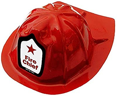 Fire Chief Hats - 12 Adult Plastic Costume Hats