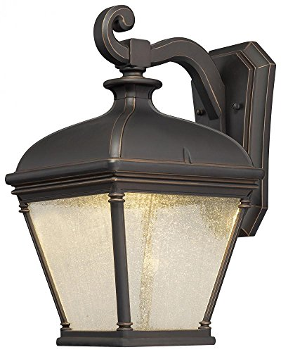 Minka Lavery 72393-143C 1 Light Outdoor LED Wall Mount Lighting, Oil Rubbed Bronze with Gold Highlights