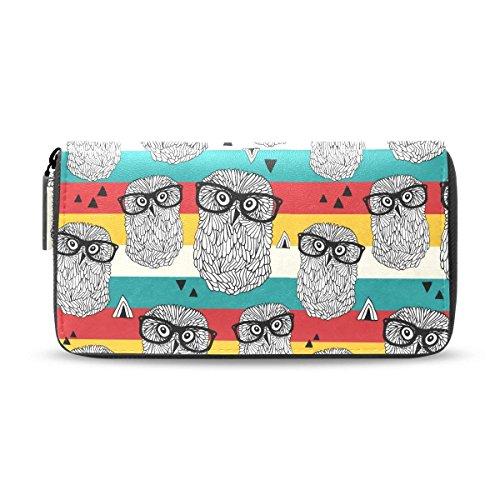 Owl Bird Animal Clutch Wallet HandBag Hipster Women PU Leather Passport Purses by HJudge
