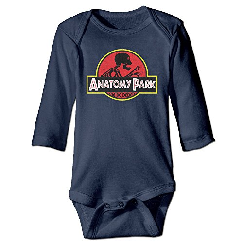 HYRONE Rick Anatomy Park Morty Baby Bodysuit Long Sleeve Climbing Clothes Size 24 Months Navy -