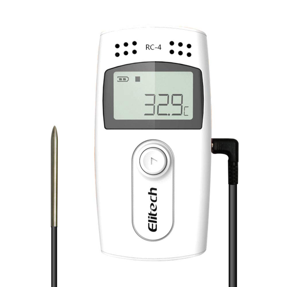 Elitech RC-4 Temperature Data Logger Recorder with External Temperature Sensor