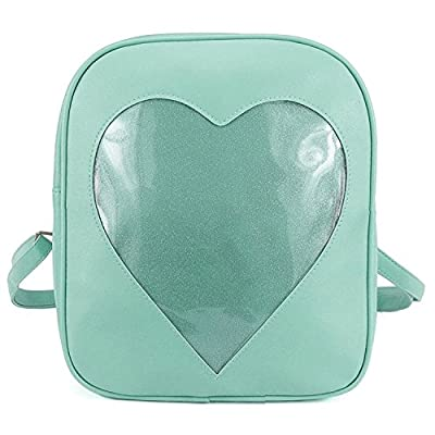4cc73aa4a3 TOOGOO Clear Candy Backpacks Transparent Love Heart School Bags for Teen  Girls Kids Purse Bag(