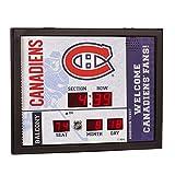 Team Sports America Montreal Canadiens Bluetooth Scoreboard Wall Clock