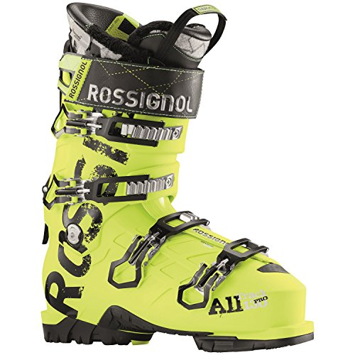 Rossignol Mens Alltrack Pro 130 WTR Ski Boots Acid Yellow Mondo Point - Boot 130 Pro Ski