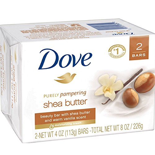 Dove Purely Pampering Shea Butter Beauty Bar, 4 oz, 2 Bar