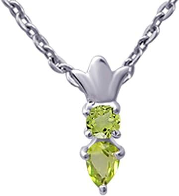 Anniversaire Cadeau Bijoux Brillant Peridot Gems Silver Cross Colliers Pendentifs
