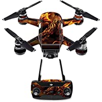Skin for DJI Spark Mini Drone Combo - Golden Dragon| MightySkins Protective, Durable, and Unique Vinyl Decal wrap cover | Easy To Apply, Remove, and Change Styles | Made in the USA