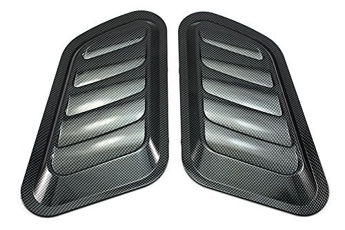 NEVERLAND 2 x ABS Car Universal Decorative Intake Scoop Turbo Bonnet Vent Cover Hood Auto NEW