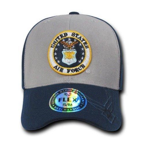 Rapiddominance Air Force Flex Military Cap, Grey, Small/Medium by Rapid Dominance