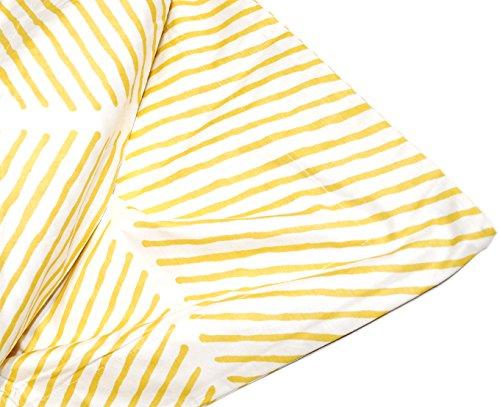Max Studio Modern Geometric Striped Pattern 3pc Duvet Cover Set Yellow (King)